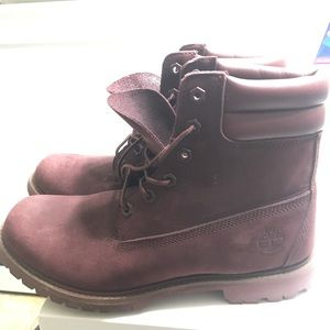 Maroon Timberlands size 10 W